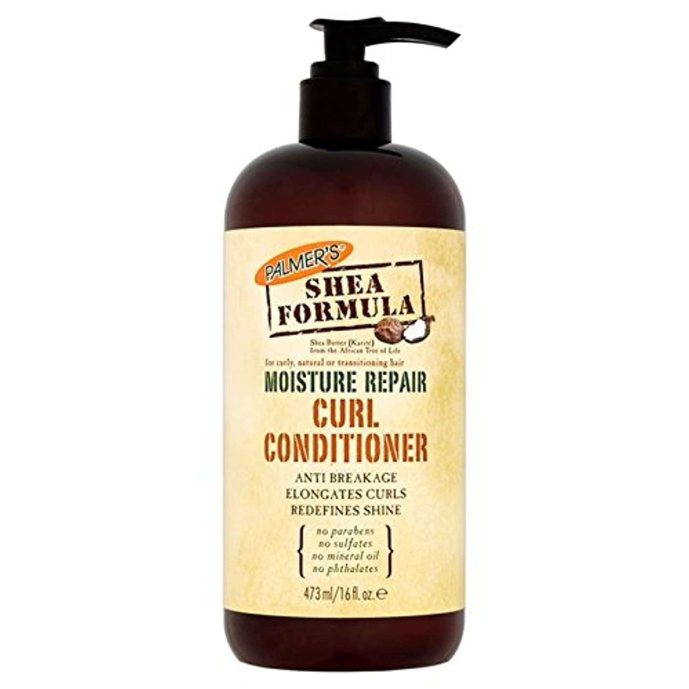 浮く即席泥Palmer's Shea Formula Moisture Repair Curl Conditioner 473ml - パーマーのシア式水分修理カールコンディショナー473ミリリットル [並行輸入品]