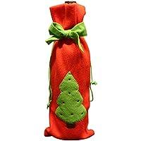 YLEJP クリスマス ワインボトルカバー ワインボトルバッグ ストッキング バッグ 袋 装飾 サンタクロース 雪だるま 夕食 ディナー ラッピング 収納バッグ ギフト 可愛いオシャレ
