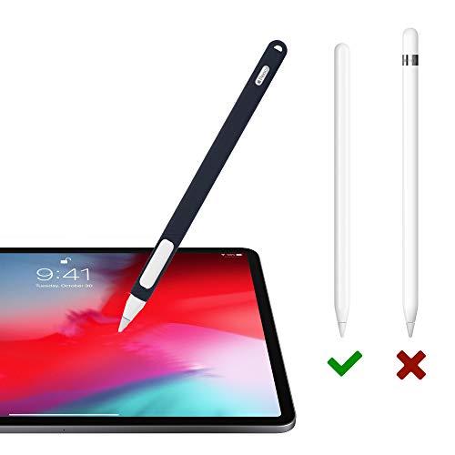 『Oumino Apple Pencil 2 ケース アップルペンシル 第2世代 カバー iPad Pro 11/12.9 ペンシル 適用 令和 シリコン ケース ペンホルダー 全面保護 紛失 落下防止 耐衝撃 軽量 超薄 充電可能 贈り物 (紺)』の3枚目の画像