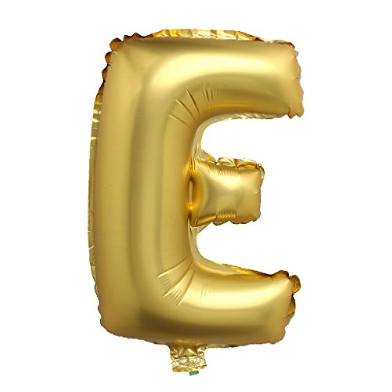 SONONIA アルミ 結婚式 パーティー 装飾 英字 アルファベット バルーン 風船 A-Z 40インチ 全2色26パターン選べる - ゴールド, E