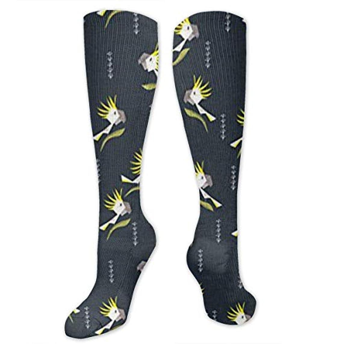 小切手エイズつかむ靴下,ストッキング,野生のジョーカー,実際,秋の本質,冬必須,サマーウェア&RBXAA Sulphur Crested Cockatoos Socks Women's Winter Cotton Long Tube Socks...