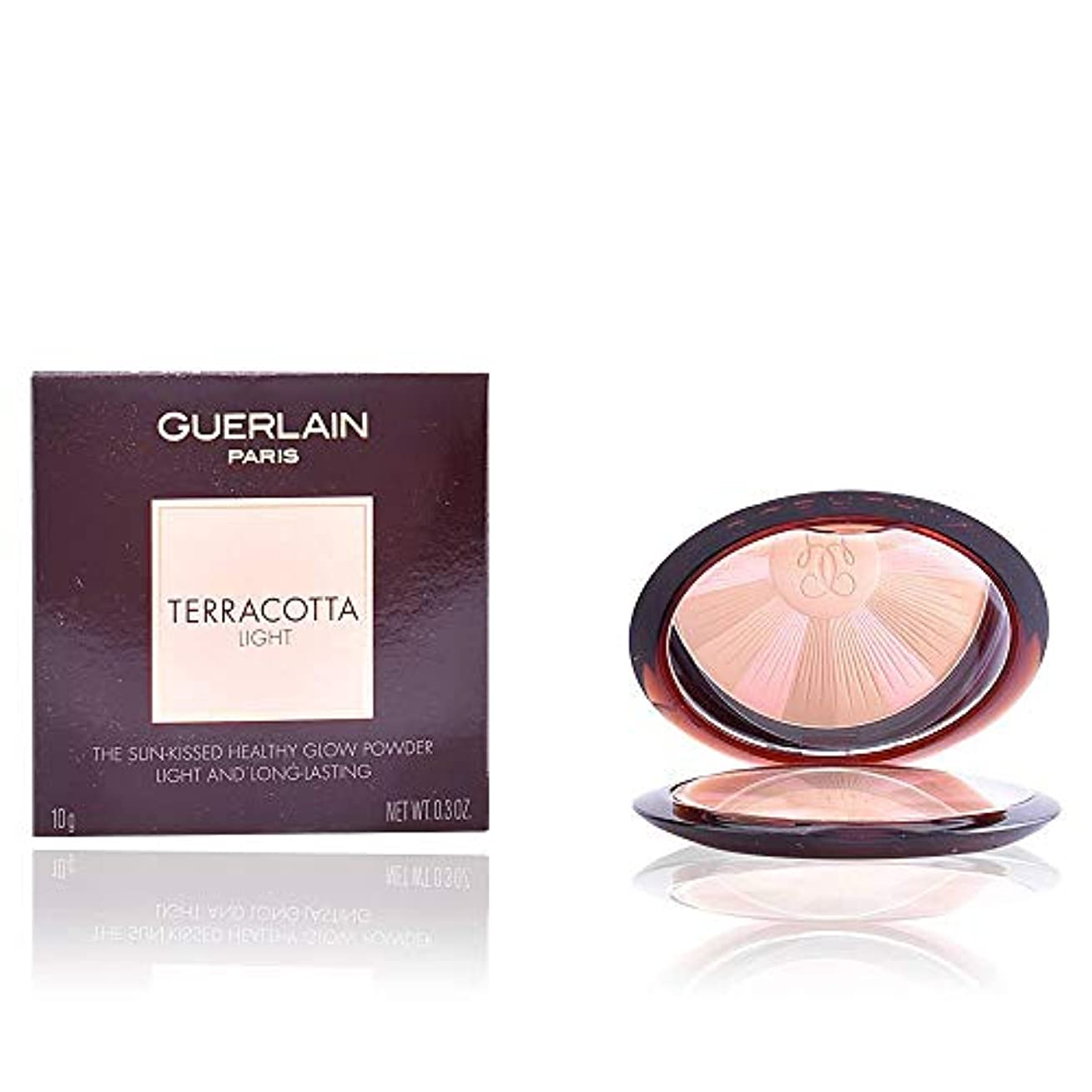 自宅で定常チャネルゲラン Terracotta Light The Sun Kissed Healthy Glow Powder - # 01 Light Warm 10g/0.3oz並行輸入品