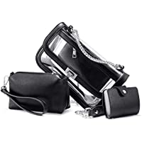 Clear Purse Stadium Approved for Women Crossbody Bags PVC Shoulder Bag Purses 3PCS Set Transparent