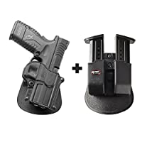 Fobus sp-11パドルConceal concealed carryホルスタースプリングフィールドXD、XDM、XDM Competition 5.25+ 6909NDダブルマガジンポーチ