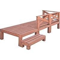 山善(YAMAZEN) ガーデンマスター 天然木ウッドデッキ6点セット(0.75坪タイプ) YWD-270