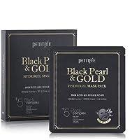 プチペ(petitfee) 黒真珠ゴルードハイドロゲルマスクパック5枚/Petitfee Black Pearl&GOLD Hydrogel Mask Pack [並行輸入品]