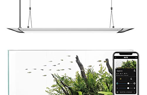 ONF FLAT ONEスマートアクアリウムライト(90cm)、吊下げ式電灯、独自設計のColorFull LED 、6500Lm、6500K~22000K、アプリ制御、超薄型、放熱性良好、ロングライフ、省エネルギー・節電、1年保証、海水水槽と水草水槽に使用