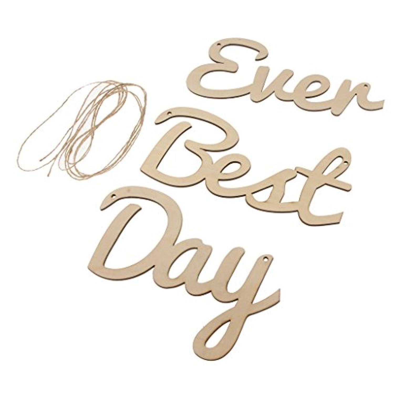 Blesiya 木製バナー 結婚式 婚約 ブライダルシャワー 記念日 誕生日 最高の一日 ガーランド パーティー Best Day Ever