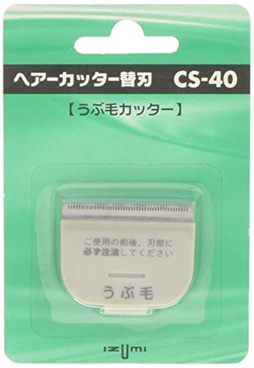 練習シーケンス学部長IZUMI ヘアーカッター用替刃 うぶ毛カッター CS-40