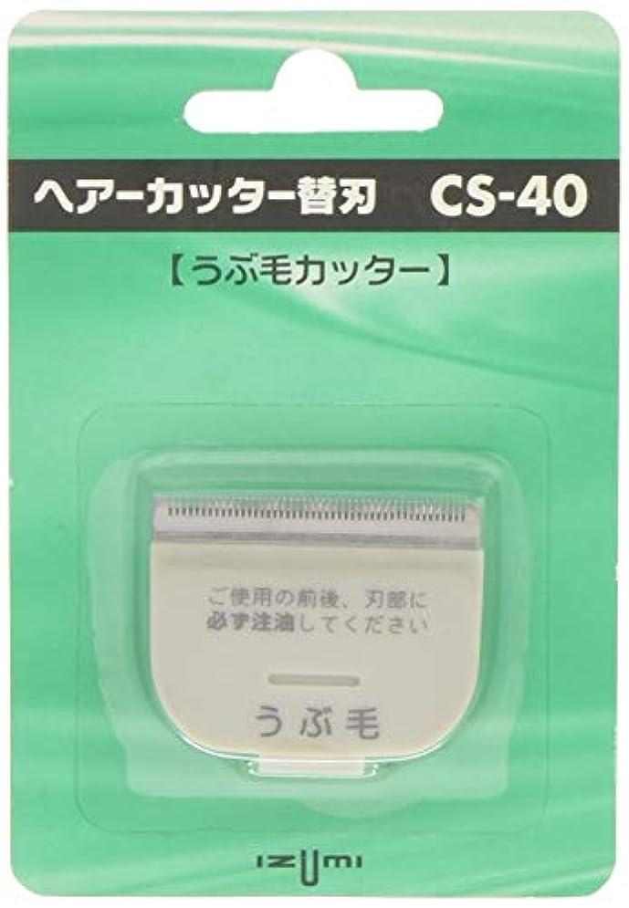 移行する標高書き込みIZUMI ヘアーカッター用替刃 うぶ毛カッター CS-40