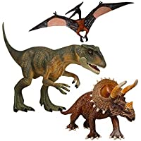 LIUFS-toys 子供用 おもちゃ シミュレーション恐竜モデル 3 誕生日プレゼント (色: A , サイズ: S )