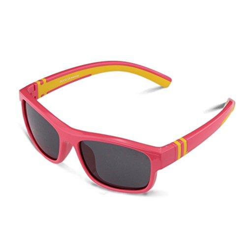 Ducoキッズスポーツサングラス 偏光サングラス 男の子と女の子兼用 柔軟なフレーム  安心 かわいい車型な眼鏡ケース