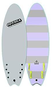 2018 ODYSEA オディシー EARLY MODEL JAPAN LIMITED 日本限定 SKIPPER 6'0 QUAD FIN CHACH SURF キャッチサーフ ソフトボード スポンジボード (O/WHT_GRY.S, SKIPPER_6.0)