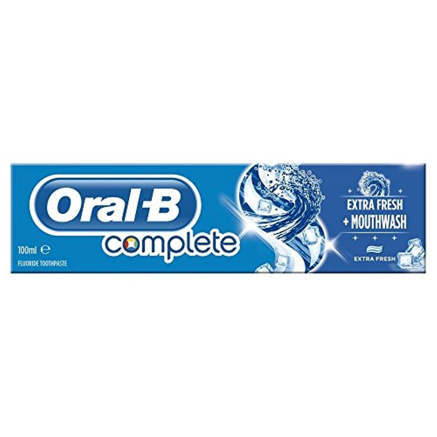 正直フラップ動詞Oral B Complete Extra Fresh Toothpaste (100ml) 経口b完全な余分な新鮮な歯磨き粉( 100ミリリットル) [並行輸入品]