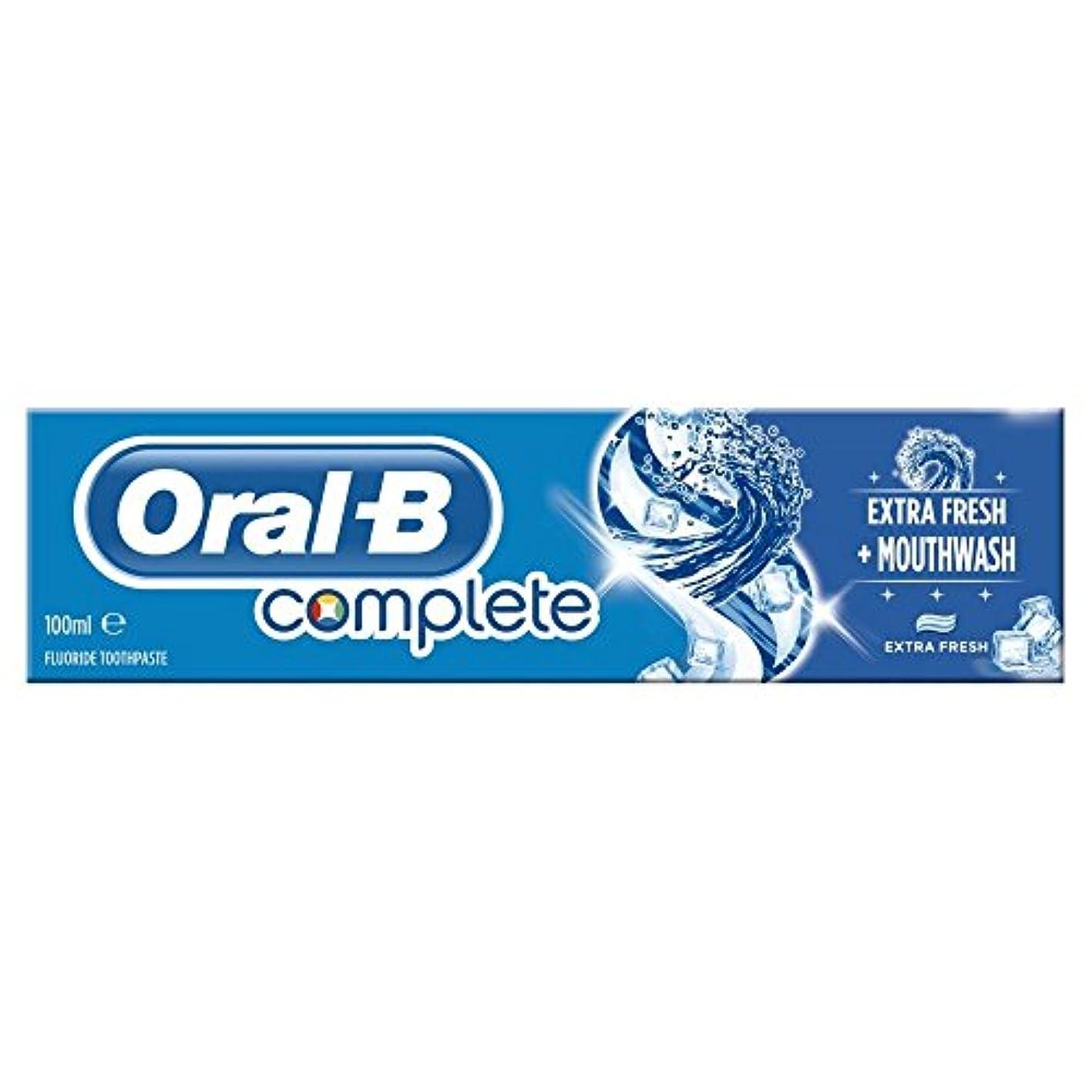 異なる寺院どれでもOral B Complete Extra Fresh Toothpaste (100ml) 経口b完全な余分な新鮮な歯磨き粉( 100ミリリットル) [並行輸入品]