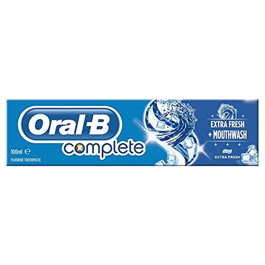 公平望遠鏡知っているに立ち寄るOral B Complete Extra Fresh Toothpaste (100ml) 経口b完全な余分な新鮮な歯磨き粉( 100ミリリットル) [並行輸入品]