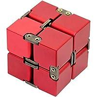 可展開の4階キューブ パズル 孔明パズル 中国伝統ゲーム 知恵おもちゃ 6 cm (レッド)
