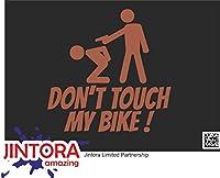 JINTORA ステッカー/カーステッカー - Don't touch my bike! - 私の自転車に触れないでください! - 99x99 mm - JDM/Die cut - 車/ウィンドウ/ラップトップ/ウィンドウ - 茶色