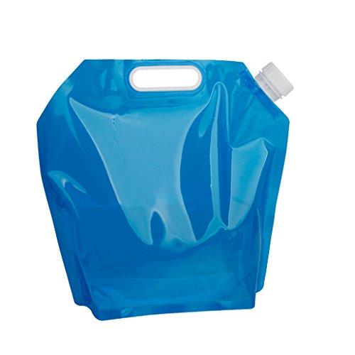 5ℓ も入る 折りたたみ ポータブル 5L水袋 非常用給水袋...