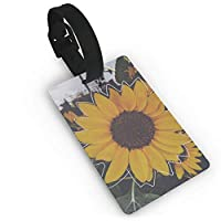 zhang xuejubkmn 荷物タグ Luggage Tags For Suitcases Sunflower Travel ID Identification Labels Set For Bags Baggage