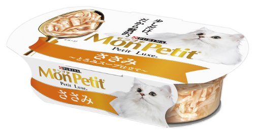 モンプチ プチリュクスカップ 成猫用 ささみ とろみスープ仕立て 57g×48個入り (ケース販売) [キャットフード]