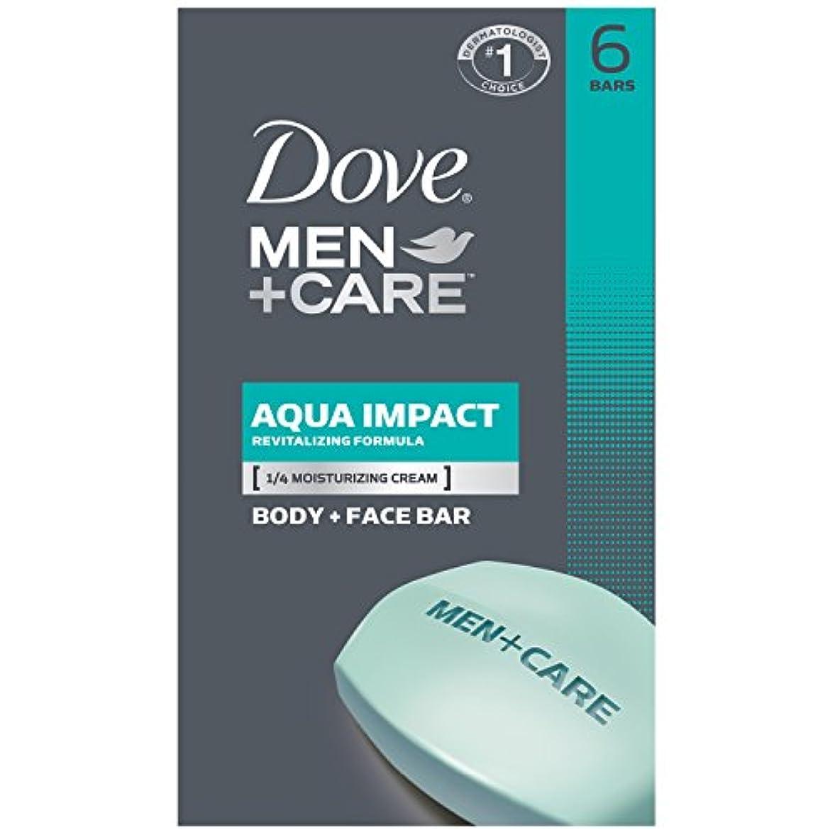 予防接種する予測子開始Dove 男性+ケアボディと顔バー - アクア影響 - 4オズ - 6のCt