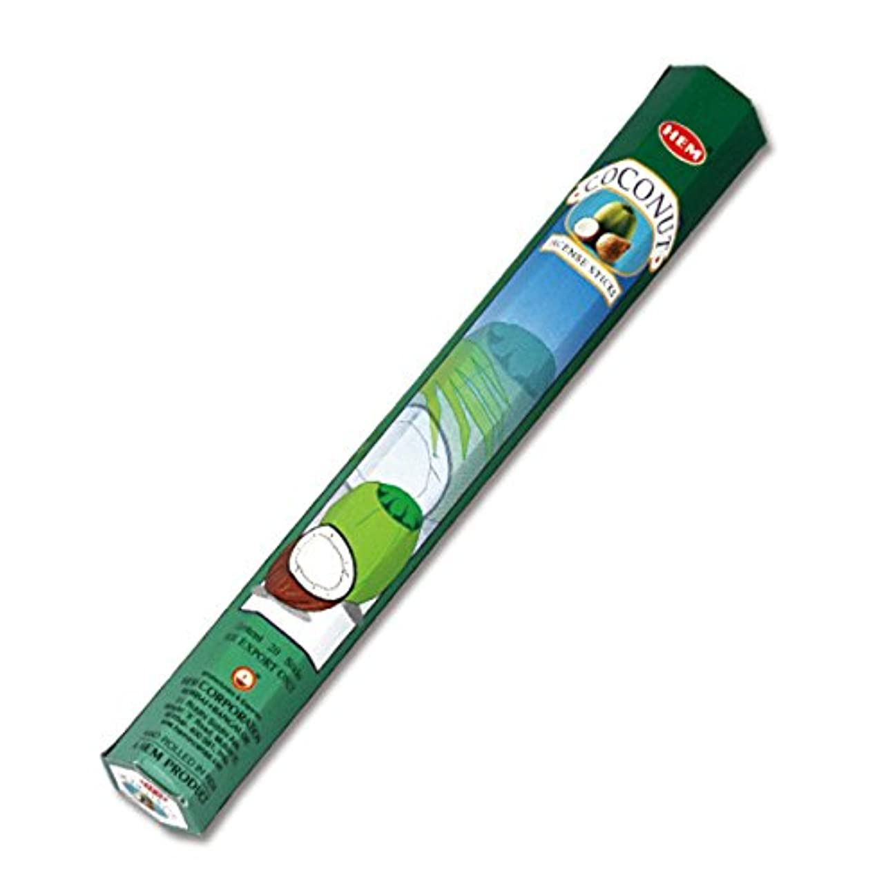 ジョイントグレーミリメートルHEM(ヘム) ココナッツ COCONUT スティックタイプ お香 1筒 単品 [並行輸入品]