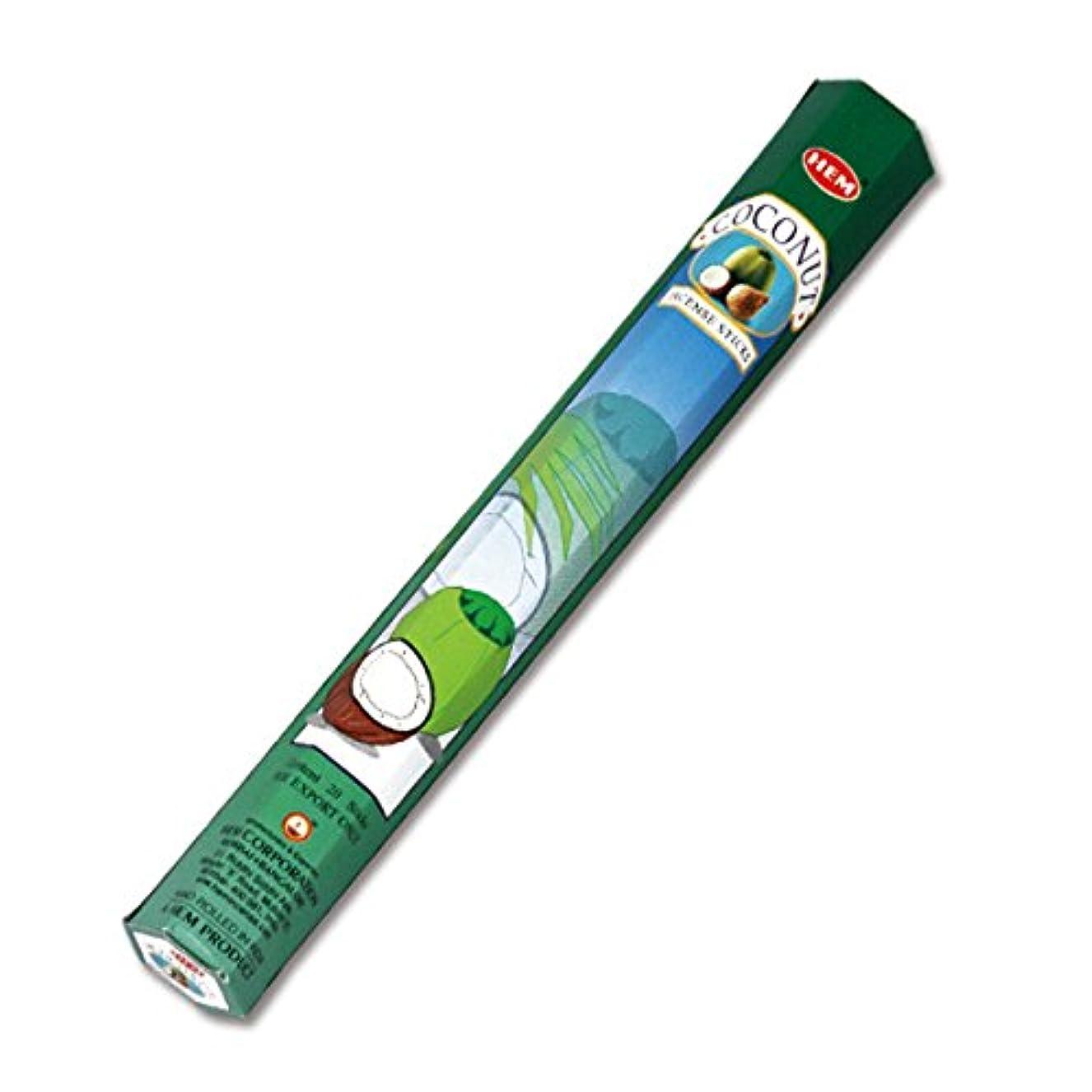 突き刺すのれん比較的HEM(ヘム) ココナッツ COCONUT スティックタイプ お香 1筒 単品 [並行輸入品]