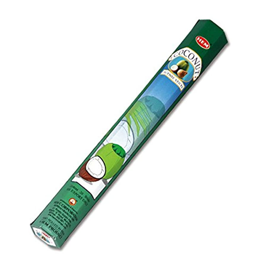 毎月怒りジュースHEM(ヘム) ココナッツ COCONUT スティックタイプ お香 1筒 単品 [並行輸入品]