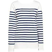 [セントジェームス] ナヴァル NAVAL レディース ロングTシャツ SAINT JAMES 2691 90 ホワイト ブルー [並行輸入品]