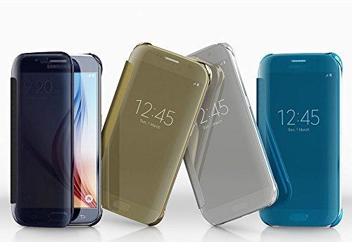 [Samsung純正] Galaxy S6 Clear View Cover - ギャラクシーS6 クリアビューカバー (前面シースルーカバー) (ゴールド)