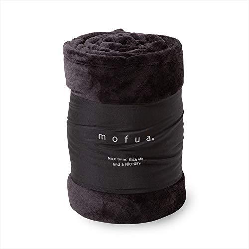 RoomClip商品情報 - mofua(モフア)毛布 シングル ブラック 1年間品質保証 静電気防止加工 プレミアムマイクロファイバー 50000110