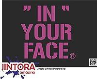 JINTORA ステッカー/カーステッカー - in his face - 彼の顔に - 135x99 mm - JDM/Die cut - 車/ウィンドウ/ラップトップ/ウィンドウ - バイオレット