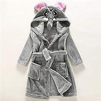 TGLAYA Girls Boys Sleeping Robe Dressing Gown Children Bathrobes Animal Head Flannel Kids Pajama