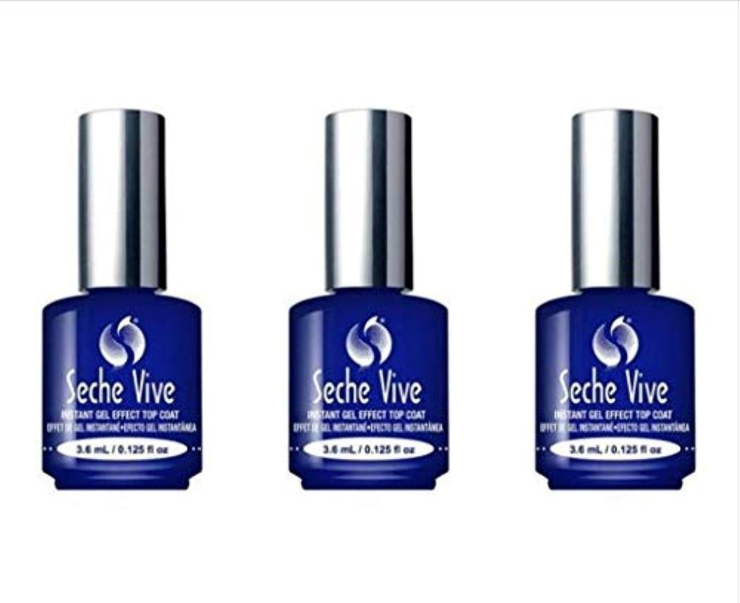 メンテナンスミキサーおもしろい(3 Pack) SECHE Vive Instant Gel Effect Top Coat - Mini (並行輸入品)