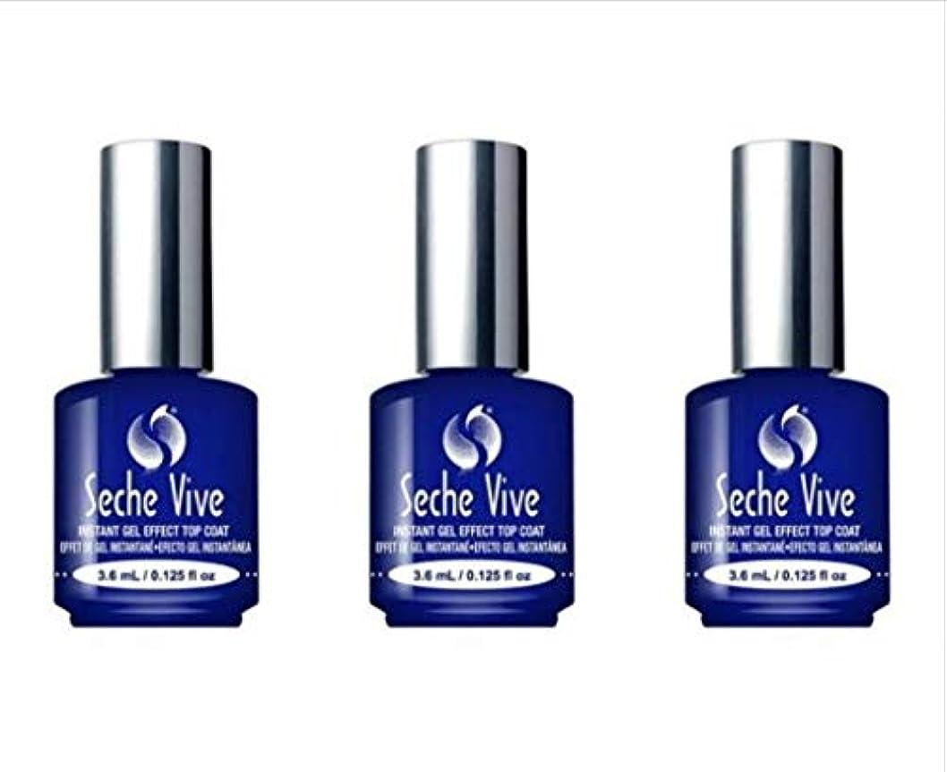 想定する単調なデータ(3 Pack) SECHE Vive Instant Gel Effect Top Coat - Mini (並行輸入品)