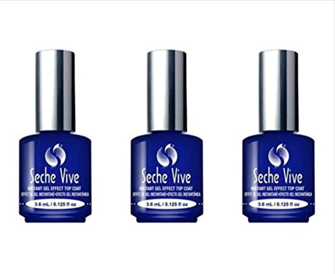 (3 Pack) SECHE Vive Instant Gel Effect Top Coat - Mini (並行輸入品)