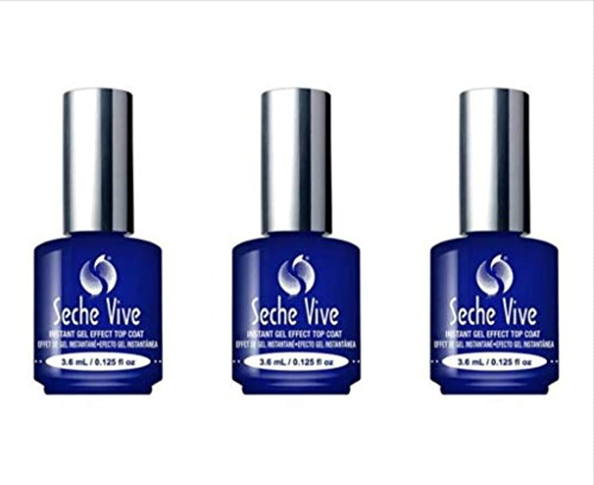ストレンジャー彼女メーター(3 Pack) SECHE Vive Instant Gel Effect Top Coat - Mini (並行輸入品)