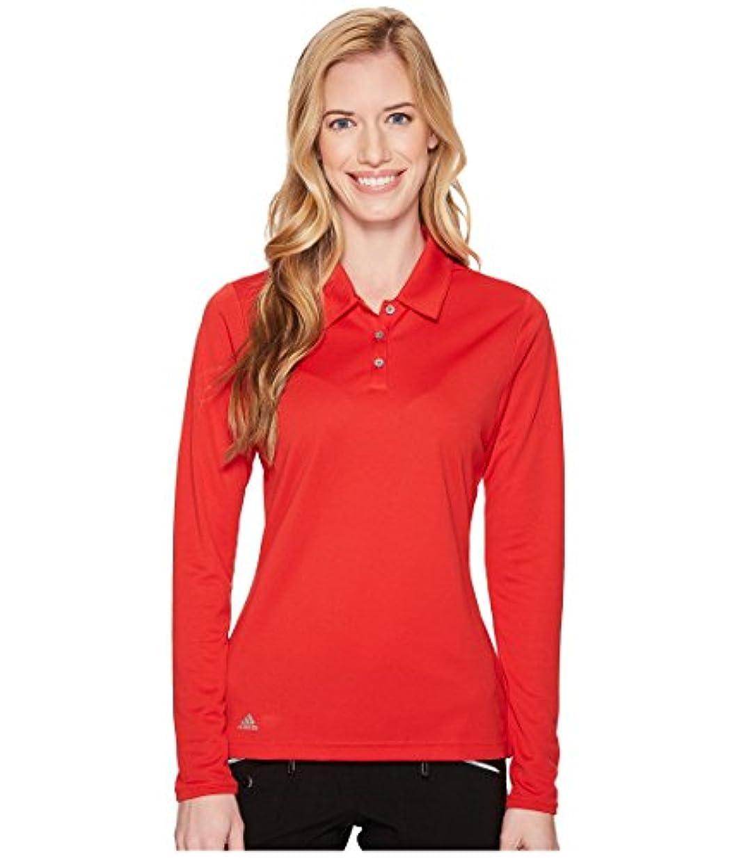 生態学ボトル裏切り者(アディダス) adidas レディースタンクトップ?Tシャツ Performance Long Sleeve Polo Collegiate Red L