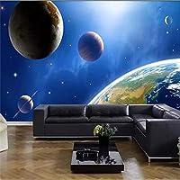 Lcymt 壁紙壁画カスタムホームの生産に特化した高精細宇宙惑星3Dスターの背景の壁画-350X250Cm