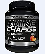 Scitec Nutrition BCAA Amino Charge Energy Boost - 100mg Caffeine & Zero Sugar - Peach - 570g