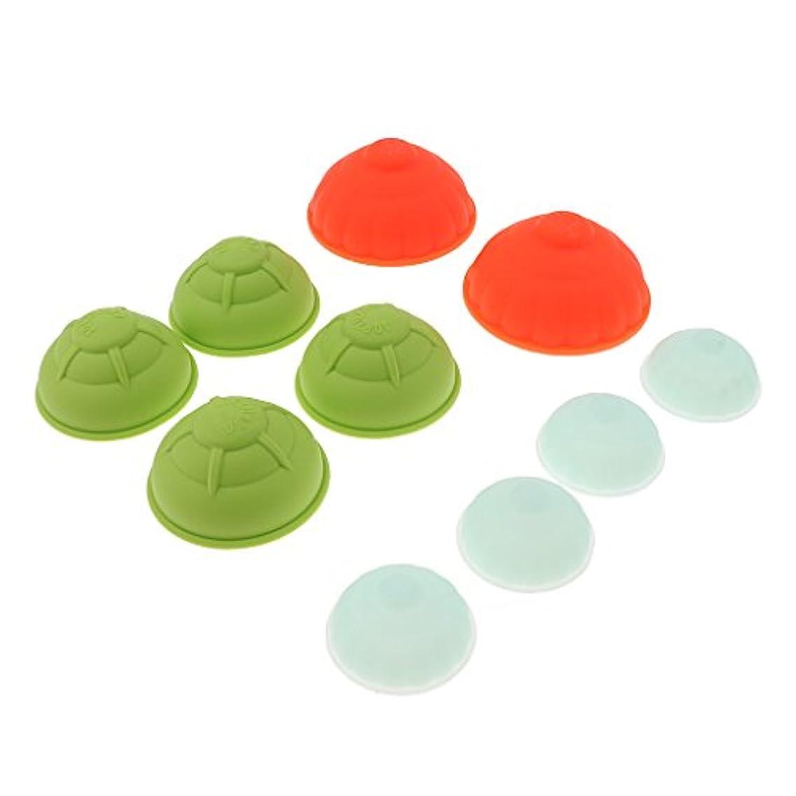 芸術腹部戦士カッピングカップ 10個 シリコン 真空 マッサージ カッピングカップセット