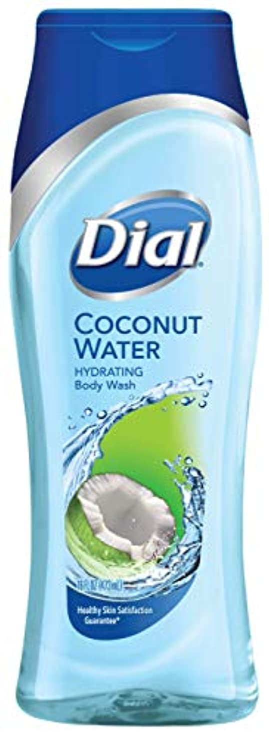 満了パイント心理的Dial Hydrating Body Wash, Coconut Water, 16 Ounce by Dial