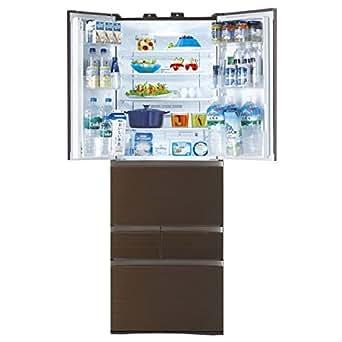 東芝 508L 6ドア冷蔵庫(グレインブラウン)TOSHIBA マジック大容量 GR-H510FV-ZM