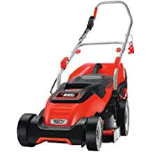 BLACK+DECKER EMAX38I-XE 1600W 38Cm Electric Lawn Mower With Compact And Go