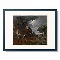 ヴィルヘルム・ブッシュ Wilhelm Busch 「Landscape with cows on an overcast Day. 1885-90」 額装アート作品
