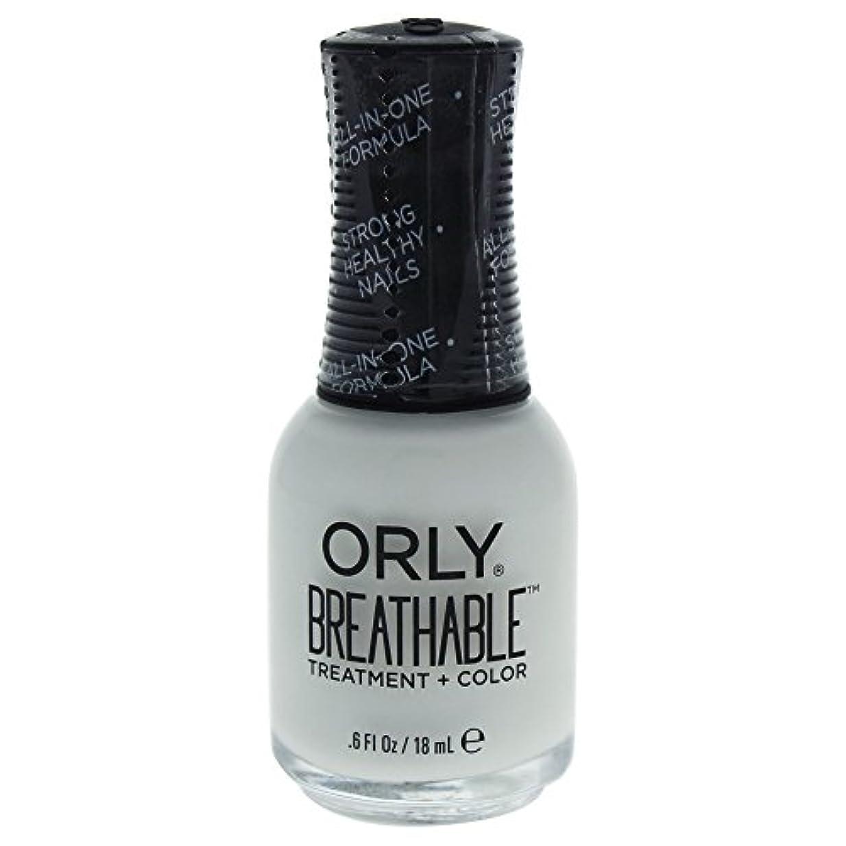 乳製品パテチャットOrly Breathable Treatment + Color Nail Lacquer - White Tips - 0.6oz / 18ml