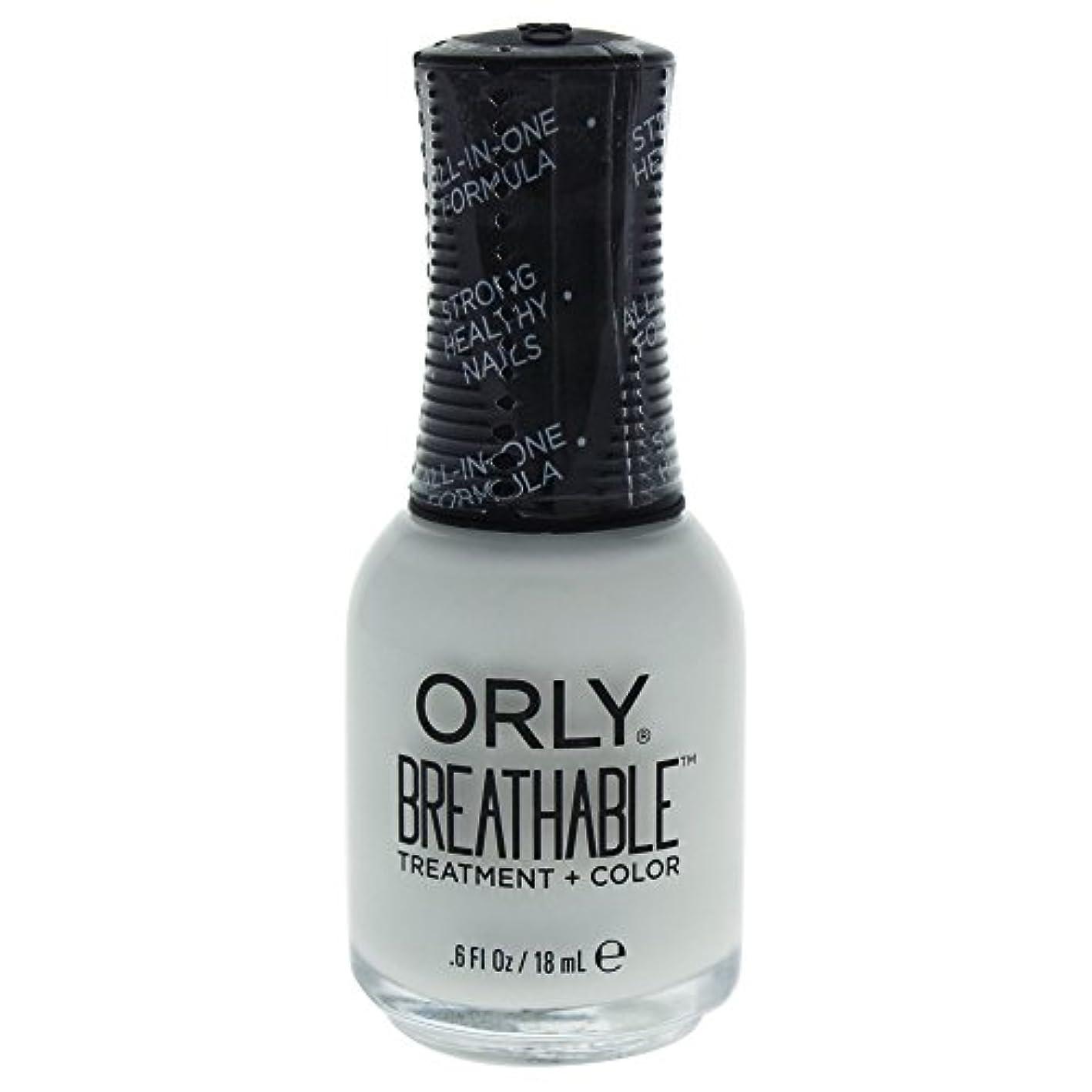 フォルダふりをする休憩するOrly Breathable Treatment + Color Nail Lacquer - White Tips - 0.6oz / 18ml