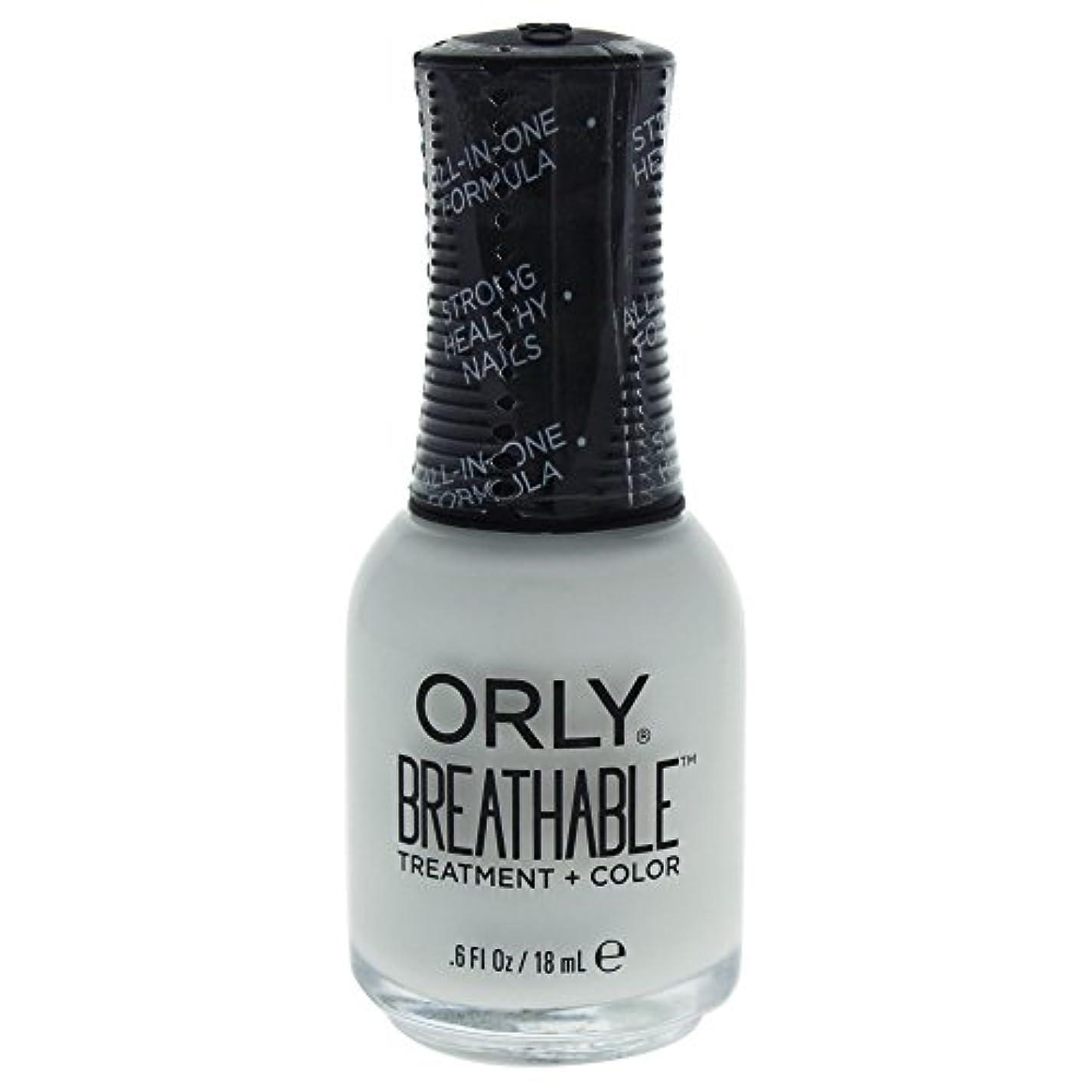 艦隊娯楽シリーズOrly Breathable Treatment + Color Nail Lacquer - White Tips - 0.6oz / 18ml