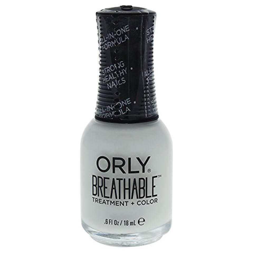 ローラー正気セーブOrly Breathable Treatment + Color Nail Lacquer - White Tips - 0.6oz / 18ml